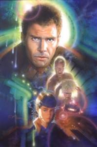 Original mixed media art from Blade Runner