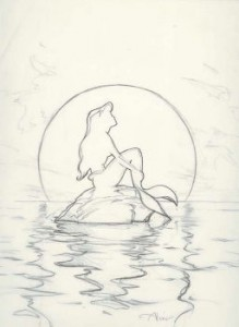Little Mermaid concept graphite