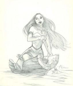 Pocahontas original graphite concept