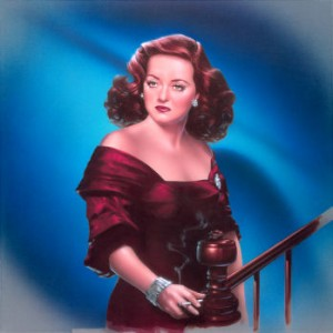 Bette Davis full color study