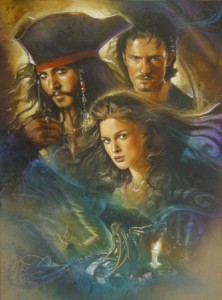 Pirates of the Caribbean original mixed media