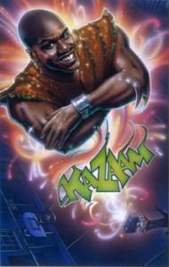 Original art for the Kazaam movie poster