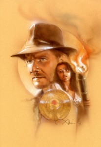 Raiders of the Lost Ark original mixed media