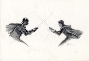 Concept graphite for Star Wars campaign