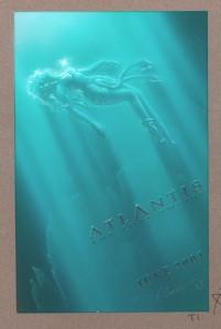 Atlantis underwater original mixed media