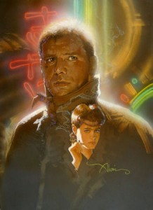 Deckard and Rachel original mixed media