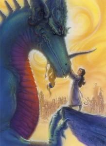 Original mixed media Dragon Princess