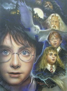 Harry Potter original mixed media