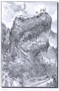 Jurassic Park graphite concept art