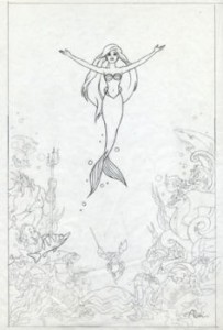 Little Mermaid original concept graphite