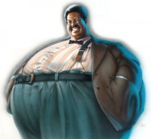 The Nutty Professor original mixed media concept art