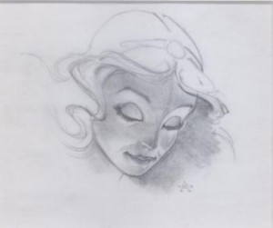 Pinocchio re-release concept art Blue Fairy