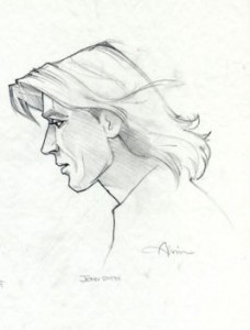 John Smith profile graphite