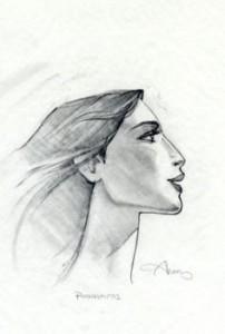 Pocahontas profile graphite