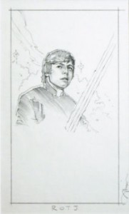 Luke Skywalker ROTJ concept cover art