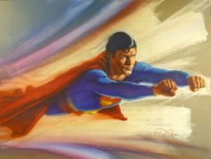 Superman original mixed media