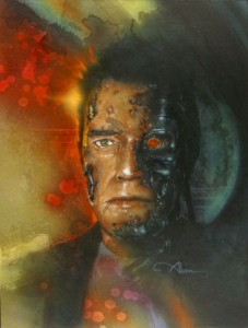 The Terminator original mixed media