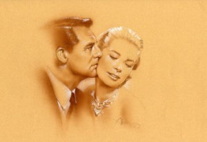 One of a series of images John created inspired by his favorite classic films. He has done both sepia/airbrush, that comes out very monochromatic, and partial color, which is great because clients can mix them up and they look great together.