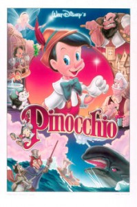 This is original art used to make the poster for the rerelease of Pinocchio. Weird, lots of folks come into ArtInsights thinking a movie was released when they were little. I had a 24 year old thinking Bambi had come out 10 years or so ago (1942) happens all the time. That's a testament to the longevity of the movies Disney makes!