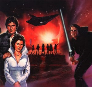 Illustration used for the cover of the book 'Champions of the Force' by Kevin J. Anderson