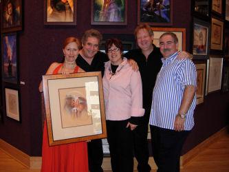 John Alvin, Andrea Alvin, Leslie Combemale, and Michael Barry