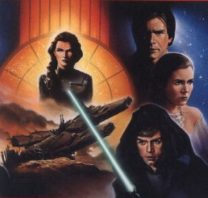 Illustration used for the cover of the book 'Jedi Search' by Kevin J. Anderson