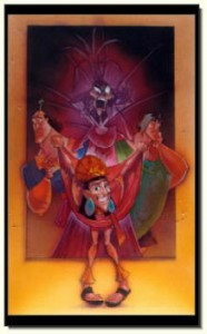 Original Art of Emperor's New Groove