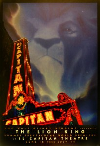 Lion King at El Capitan Theatre Poster
