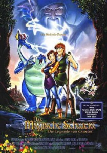 German Quest for Camelot poster