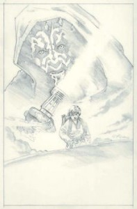 This is the concept drawing for the poster artwork for the first Star Wars Celebration