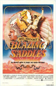 Final Poster of Blazing Saddles